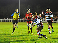 Phoebe Murray of Bristol Ladies scores a try - Mandatory by-line: Paul Knight/JMP - 16/12/2017 - RUGBY - Cleve RFC - Bristol, England - Bristol Ladies v Worcester Valkyries - Tyrrells Premier 15s