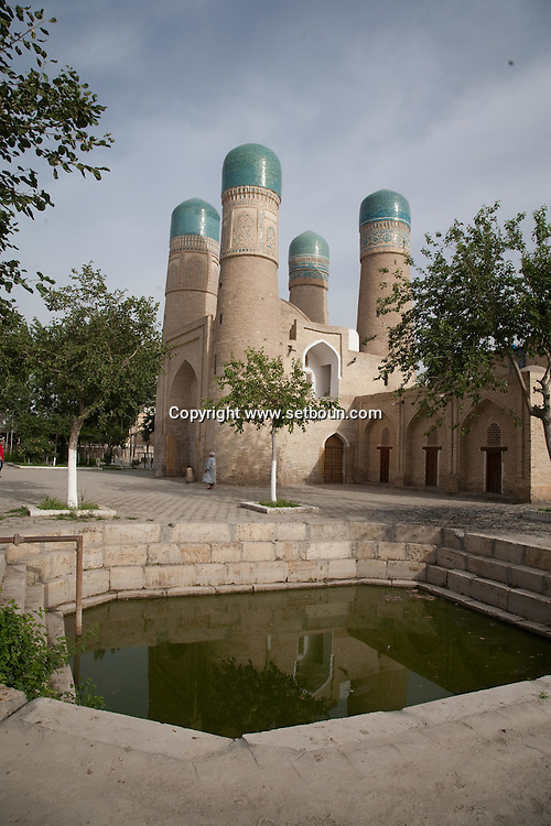 Chor minor mosque with four minarets  Boukhara  Ouzbekistan  .///.Char Minar mosquee aux quatre minarets  Boukara  Ouzbekistan .///.OUZB56272