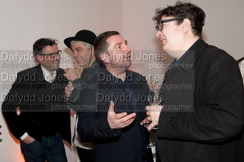 PAUL FRYER; TIM NOBLE; MARK JENKINS; MARK WALLINGER, TODÕS Art Plus Drama Party 2011. Whitechapel GalleryÕs annual fundraising party in partnership. Whitechapel Gallery. London. 24 March 2011.  with TODÕS and supported by HarperÕs Bazaar-DO NOT ARCHIVE-© Copyright Photograph by Dafydd Jones. 248 Clapham Rd. London SW9 0PZ. Tel 0207 820 0771. www.dafjones.com.<br /> PAUL FRYER; TIM NOBLE; MARK JENKINS; MARK WALLINGER, TOD'S Art Plus Drama Party 2011. Whitechapel Gallery's annual fundraising party in partnership. Whitechapel Gallery. London. 24 March 2011.  with TOD'S and supported by Harper's Bazaar-DO NOT ARCHIVE-© Copyright Photograph by Dafydd Jones. 248 Clapham Rd. London SW9 0PZ. Tel 0207 820 0771. www.dafjones.com.
