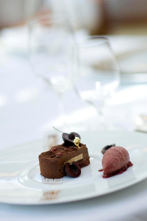 Homemade chocolates by Jacqueline Keenan of Simpson's restaurant, Birmingham, England, UK.