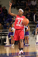 Fresno State guard Mirenda Swearengin (22) brings the ball up court against Kansas State, during the first half at Bramlage Coliseum in Manhattan, Kansas, March 22, 2006.  K-State defeated the Bulldogs 64-61 in the second round of the WNIT.