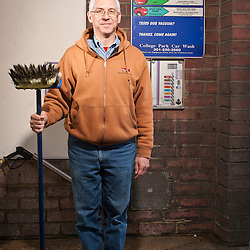 David DuGoff, proprietor of College Park Car Wash, poses in his car wash on March 20, 2010.  DuGoff is an advocate for the usage of dollar coins and the phasing out of $1 bills.