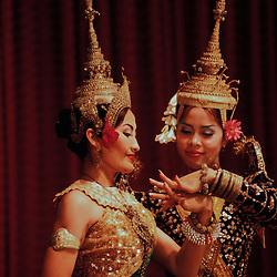 Apsara dancers perform in Siem Reap, Cambodia.