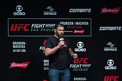 October 27, 2017 - Sao Paulo, Sao Paulo, Brazil - Former UFC fighter RODRIGO MINOTAURO during the weighing ceremony prior to the UFC Fight Night Sao Paulo, at the Ibirapuera Gymnasium in Sao Paulo Brazil. (Credit Image: © Paulo Lopes via ZUMA Wire)
