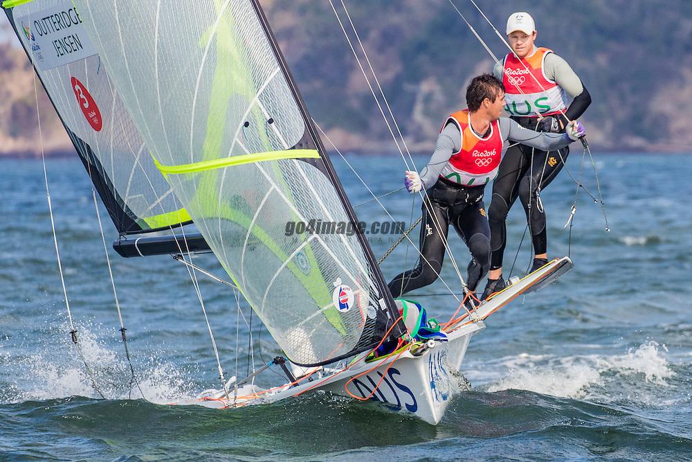 49er AUS Nathan Outteridge AUSNO3 Iain Jensen AUSIJ1<br /> <br /> 2016 Olympic Games <br /> Rio de Janeiro