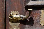 Türklinke der Kirche, Lauterbach, Vogelsberg, Hessen, Deutschland | door knob of church, Lauterbach, Vogelsberg, Hesse, Germany
