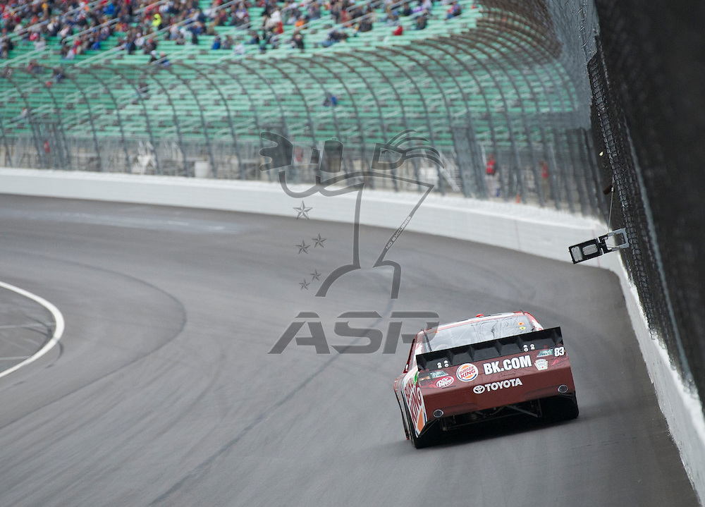 Kansas City, KS - OCT 19, 2012:  The NASCAR Sprint Cup Series teams take to the track during qualifying for the Hollywood Casino 400 at Kansas Speedway in Kansas City, KS.