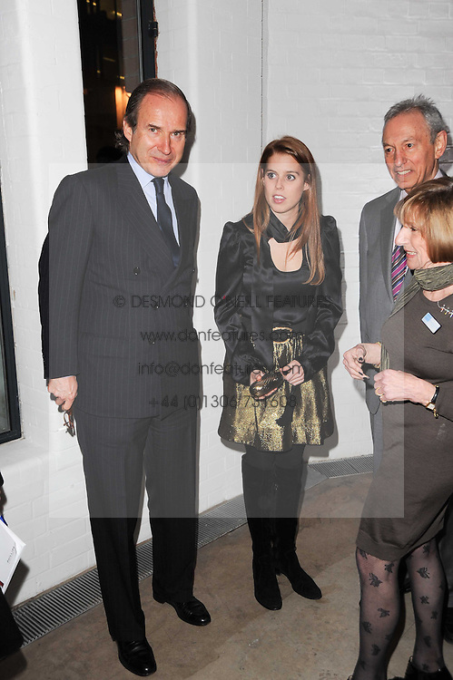SIMON DE PURY and PRINCESS BEATRICE OF YORK at the Polo Jeans Co. hosted Art Stars Auction in support of the Teenage Cancer Trust held at Phillips de Pury & Co, Howick Place, London on 6th December 2010.