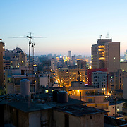 BEIRUT,LEBANON- JUNE 2009 :View of Beirut at dusk from the district of Gemmayzeh. Lebanon. Lebanon.  06/02/2009 ( Photo by Jordi Cami )