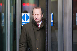 © Licensed to London News Pictures. 11/02/2018. London, UK. UKIP Leader Henry Bolton leaving BBC Broadcasting House. Photo credit: Rob Pinney/LNP