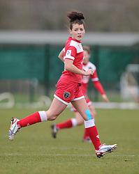 Bristol Academy's Angharad James  - Photo mandatory by-line: Joe Meredith/JMP - Mobile: 07966 386802 - 01/03/2015 - SPORT - Football - Bristol - SGS Wise Campus - Bristol Academy Womens FC v Aston Villa Ladies - Women's Super League