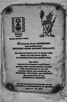 Commemoration Plaque, National Conference of Artists