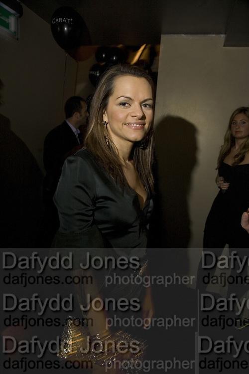 MARIA HATZISTEFANIS, Party to launch CARAT a new diamond brand, Kitts. Sloane sq. London. 20 December 2007.  -DO NOT ARCHIVE-© Copyright Photograph by Dafydd Jones. 248 Clapham Rd. London SW9 0PZ. Tel 0207 820 0771. www.dafjones.com.