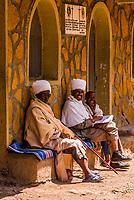 Priests sitting, Gondar, Ethiopia.