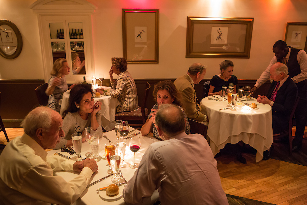 New York, NY - 27 May 2014. A view of the dining room at The Simone.