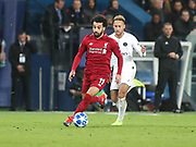 Neymar of Paris Saint-Germain and Andrew Robertson of Liverpool during the Champions League group stage match between Paris Saint-Germain and Liverpool at Parc des Princes, Paris, France on 28 November 2018.