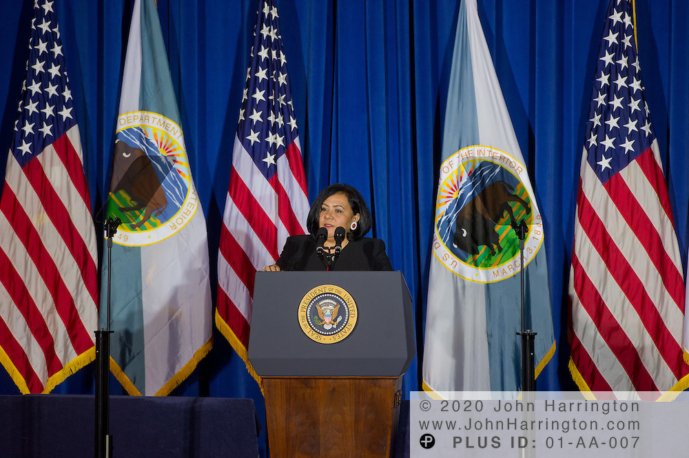 Tribal Chief of the Choctaw Nation, Phyllis Anderson, addresses the leaders of the 565 federally recognized Native American tribes at the 2011 White House Tribal Nations Conference hosted by President Barack Obama. The 2011 White House Tribal Nations Conference was held at the U.S. Department of the Interior in Washington, DC on December 2nd, 2011.