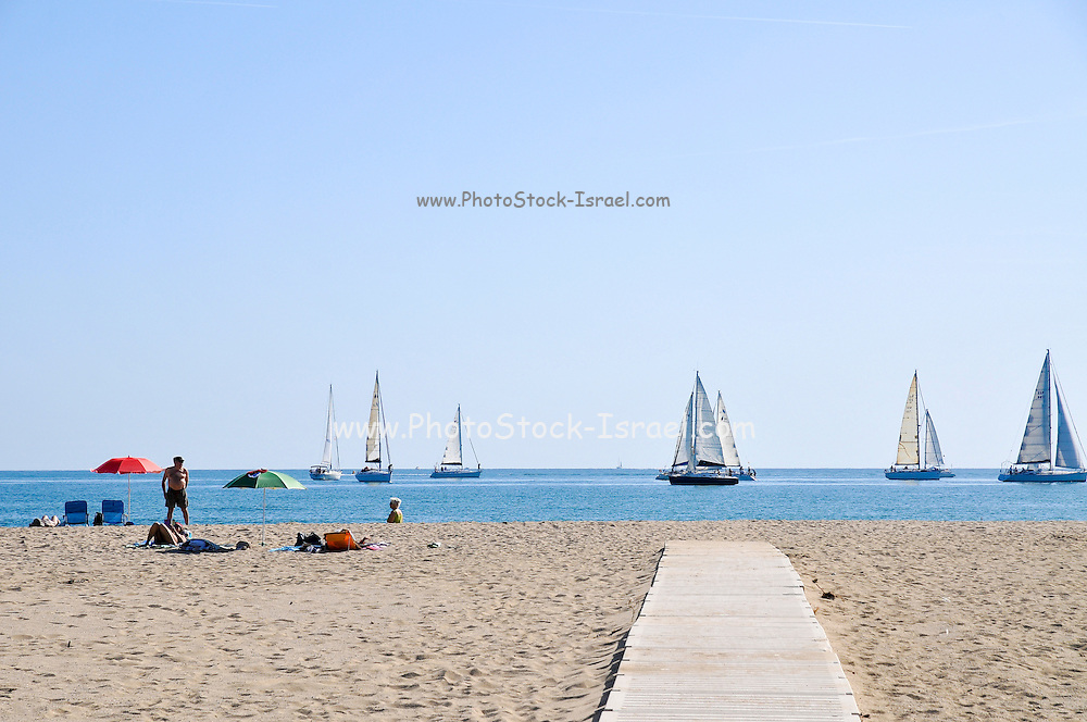 Empuriabrava Beach, Costa Brava, Spain
