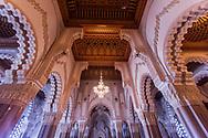 Hassan II Mosque inside, Casablanca Morocco