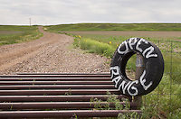 Cattle Guard and sign near Terry Montana