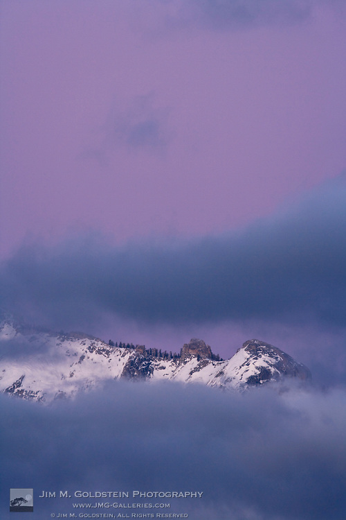 Clouds Rest in the Fog at Dusk - Yosemite National Park, California