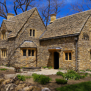 &quot;Cotswald Cottage Tea&quot;<br /> <br /> Beautiful Cotswald Cottage Tea House in Greenfield Village on an early spring day with blue skies and the freshness of a spring day!