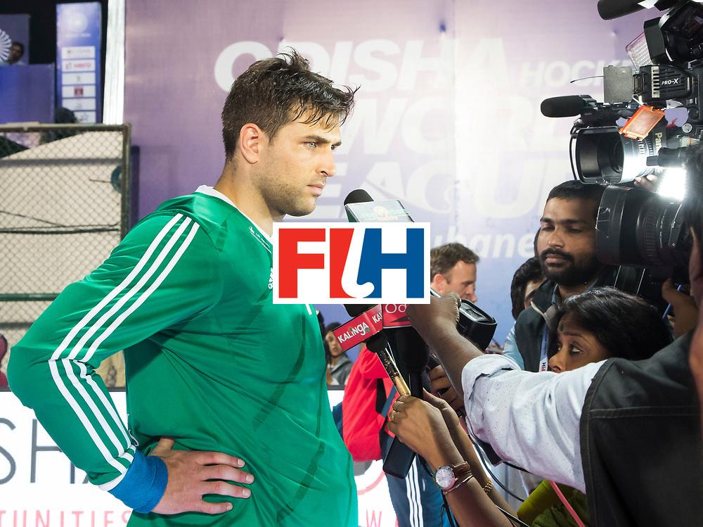 BHUBANESWAR - The Odisha Men's Hockey World League Final . Match ID 01 . Germany v England (2-0). keeper George Pinner (Eng)) .WORLDSPORTPICS COPYRIGHT  KOEN SUYK