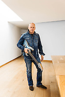 Mark Knopfler, musician, guitarist, photographed in his studio in West London February 13th 2015.