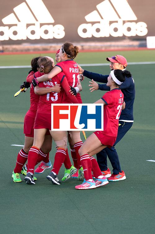 AUCKLAND - Sentinel Hockey World League final women<br /> Match id: 10303<br /> 13 GER v KOR (QF) 3-3<br /> Korea in to semi after shoot out.<br /> Foto: Korea wins shoot out.<br /> WORLDSPORTPICS COPYRIGHT FRANK UIJLENBROEK