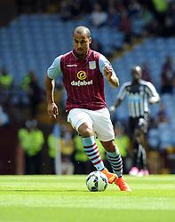 Aston Villa's Gabriel Agbonlahor - Photo mandatory by-line: Joe Meredith/JMP - Mobile: 07966 386802 23/08/2014 - SPORT - FOOTBALL - Birmingham - Villa Park - Aston Villa v Newcastle United - Barclays Premier League