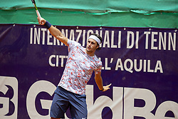 June 22, 2018 - L'Aquila, Italy - Gian Marco Moroni during match between Thiago Monteiro (BRA) and Gian Marco Moroni (ITA) during day 7 at the Internazionali di Tennis Città dell'Aquila (ATP Challenger L'Aquila) in L'Aquila, Italy, on June 22, 2018. (Credit Image: © Manuel Romano/NurPhoto via ZUMA Press)