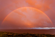 Rainbow formed at sunset over Yellowstone Lake, Yellowstone National Park, WY, © 2005 David A. Ponton