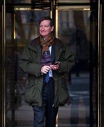 © Licensed to London News Pictures. 21/02/2019. London, UK. Former Attorney General and Remain campaigner DOMINIC GRIEVE is seen leaving Milbank Studios in Westminster, London following a television appearance. Conservative and Labour MPs have resigned form their respective parties and joined newly formed The Independent Group, a breakaway campaign group formed by seven defecting Labour MPs. Photo credit: Ben Cawthra/LNP