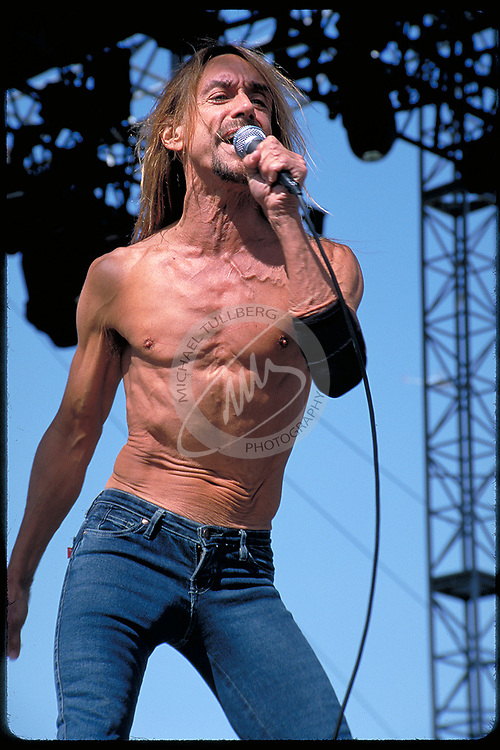 Iggy Pop performs at Coachella in 2001.