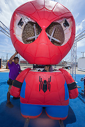 July 19, 2017 - San Diego, California, U.S.- Workers assemble one of the many displays in the free zone open to the public. (Credit Image: © Daren Fentiman via ZUMA Wire)