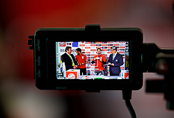 CARDIFF, WALES - Thursday, August 31, 2017: The 2nd round draw for the FAW Welsh Premier League Cup is broadcast live on Facebook at the Vale Resort. (Pic by David Rawcliffe/Propaganda)
