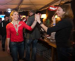 16.02.2013, Tirolberg, Schladming, AUT, FIS Weltmeisterschaften Ski Alpin, Tirolberg Friends Night, im Bild Mikaela Shiffrin (USA) // at the Tirolberg Friends Night during FIS Ski World Championships 2013 at the Tirolberg, Schladming, Austria on 2013/02/16. EXPA Pictures © 2013, PhotoCredit: EXPA/ Johann Groder