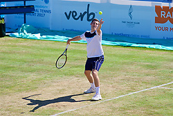 LIVERPOOL, ENGLAND - Sunday, June 18, 2017: Neal Skupski (GBR) during Day Four of the Liverpool Hope University International Tennis Tournament 2017 at the Liverpool Cricket Club. (Pic by David Rawcliffe/Propaganda)