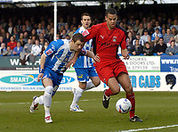 Photo: Olly Greenwood.<br />Colchester United v Coventry City. Coca Cola Championship. 10/03/2007. Coventry's Isaac Osbourne and Colchester's Jamie Cureton