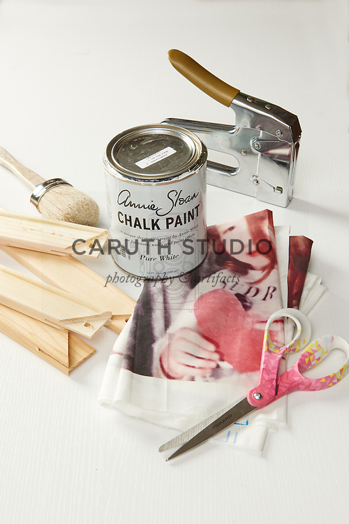 Materials for framed photo booth images on fabric