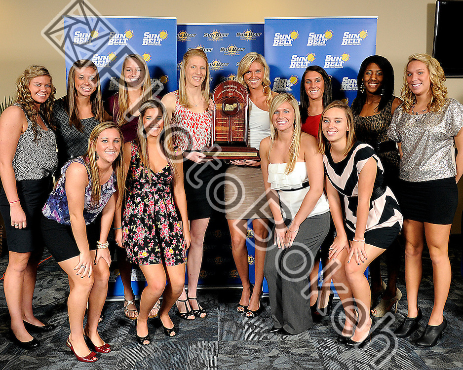 2011 November 16 - Western Kentucky awarded regular seasons east campions with a record of 15-1. Florida International University hosted the 2011 Sunbelt Volleyball Banquet at the Stadium Club in Alfonso Field, Miami, Florida. (Photo by: www.photobokeh.com / Alex J. Hernandez) 1/250 f/4 ISO400 25mm