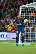 Neymar da Silva Santos Junior - Neymar Jr (PSG) scored a goal and celebrated it during the French championship L1 football match between Paris Saint-Germain (PSG) and Toulouse Football Club, on August 20, 2017, at Parc des Princes, in Paris, France - Photo Stephane Allaman / ProSportsImages / DPPI