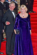 """PRINCE CHARLES AND CAMILLA, DUCHESS OF CORNWALL WITH BARBARA BROCCOLI AND MICHAEL WILSON.attend the World Premiere of the twenty-third 007 adventure, """"Skyfall"""", Royal Albert Hall, London_23/10/2012.Mandatory Credit Photo: ©Butler/NEWSPIX INTERNATIONAL..**ALL FEES PAYABLE TO: """"NEWSPIX INTERNATIONAL""""**..IMMEDIATE CONFIRMATION OF USAGE REQUIRED:.Newspix International, 31 Chinnery Hill, Bishop's Stortford, ENGLAND CM23 3PS.Tel:+441279 324672  ; Fax: +441279656877.Mobile:  07775681153.e-mail: info@newspixinternational.co.uk"""