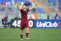 Esultanza Alessandro Florenzi Roma Celebration <br /> Roma 03-04-2016 Stadio Olimpico Football Calcio Serie A 2015/2016 Lazio - AS Roma Foto Andrea Staccioli / Insidefoto