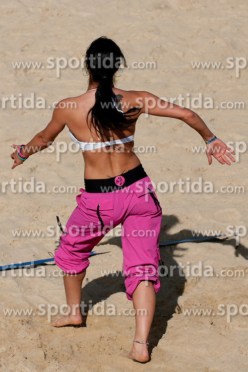 Viktorija Manzinni (Slovenian Playboy girl - playmate 2011) at Beachmaster 2011 tournament for Slovenian BeachTour on July 22, 2011, in Ptuj, Slovenia. (Photo by Matic Klansek Velej / Sportida)