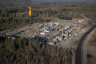 Photo Randy Vanderveen<br /> south of Grande Prairie, Alberta<br /> 2014-05-07<br /> Essential Energy Coil Well Services aerial photos at a site south of Grande Prairie.