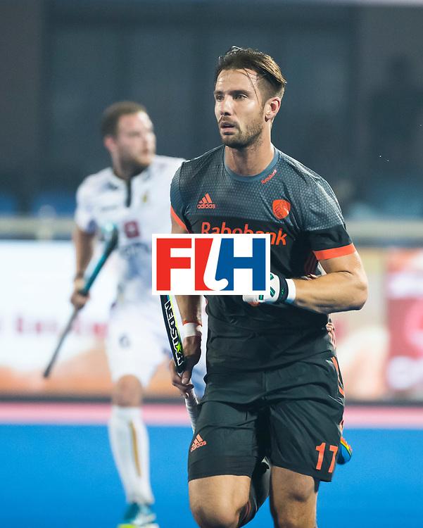 BHUBANESWAR - Martijn Havenga (Ned)  tijdens de Hockey World League Final wedstrijd Belgie-Nederland (3-0).   COPYRIGHT KOEN SUYK