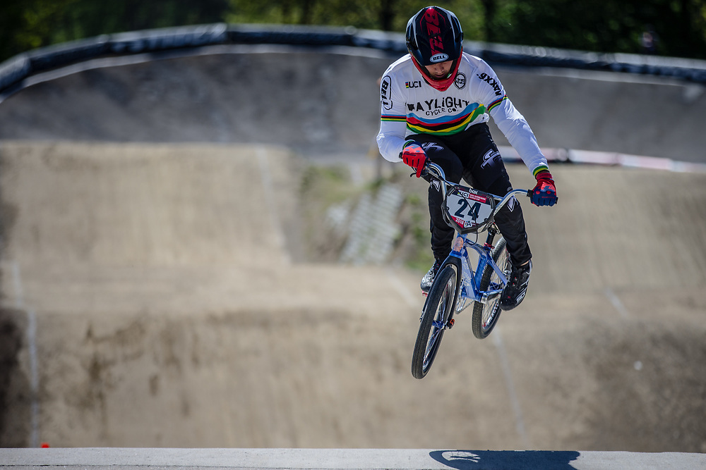 #24 (SHARRAH Corben) USA at Round 4 of the 2018 UCI BMX Superscross World Cup in Papendal, The Netherlands