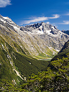 Views and sites along the Key Summit route, The Divide, Fiordland National Park, near Te Anau, Southland, New Zealand