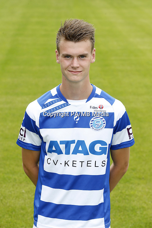 Bart Straalman during the team presentation of De Graafschap on July 24, 2015 at the Vijverberg in Doetinchem, The Netherlands.